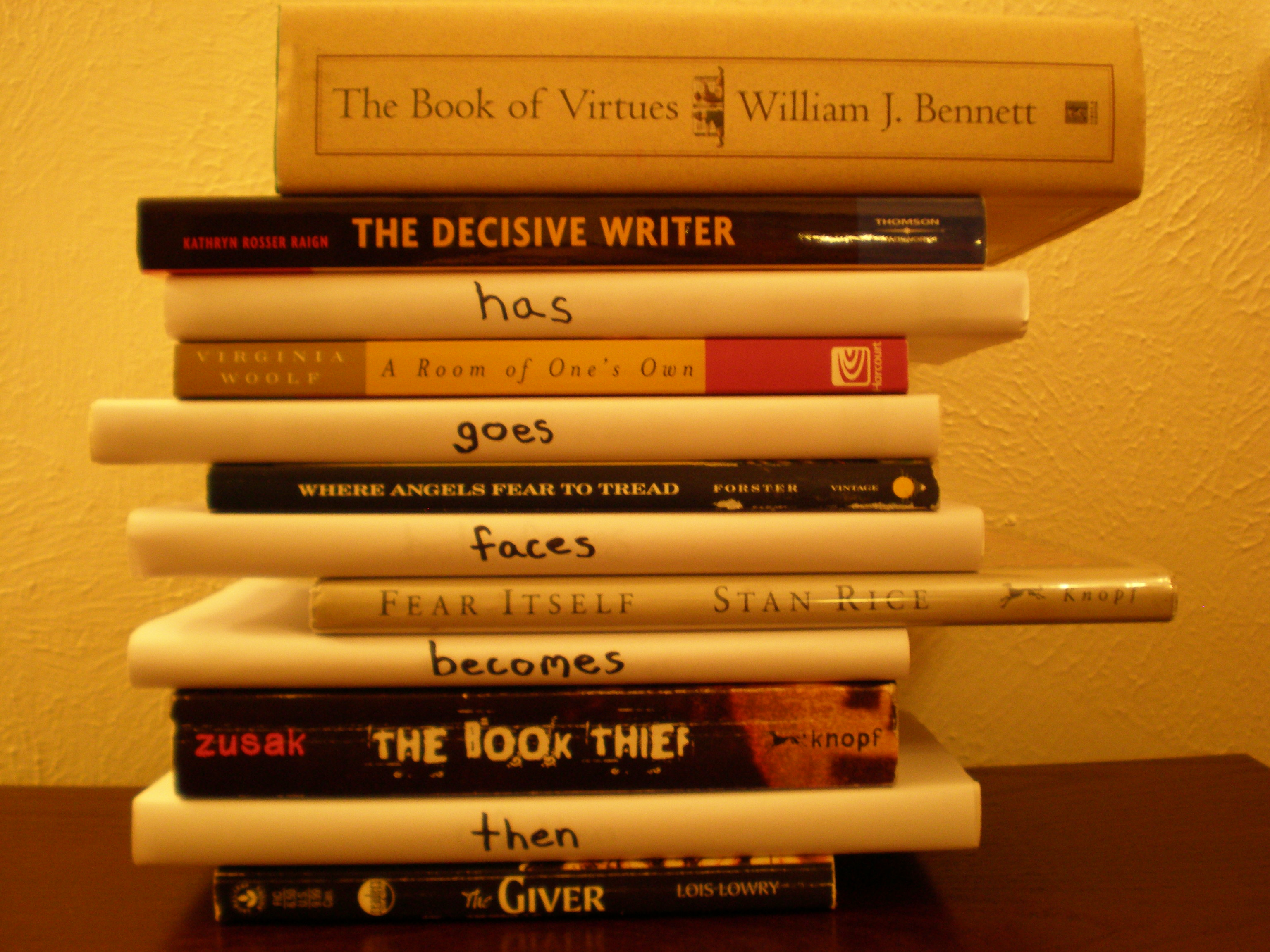 book title poems annie neugebauer the book of virtues the decisive writer