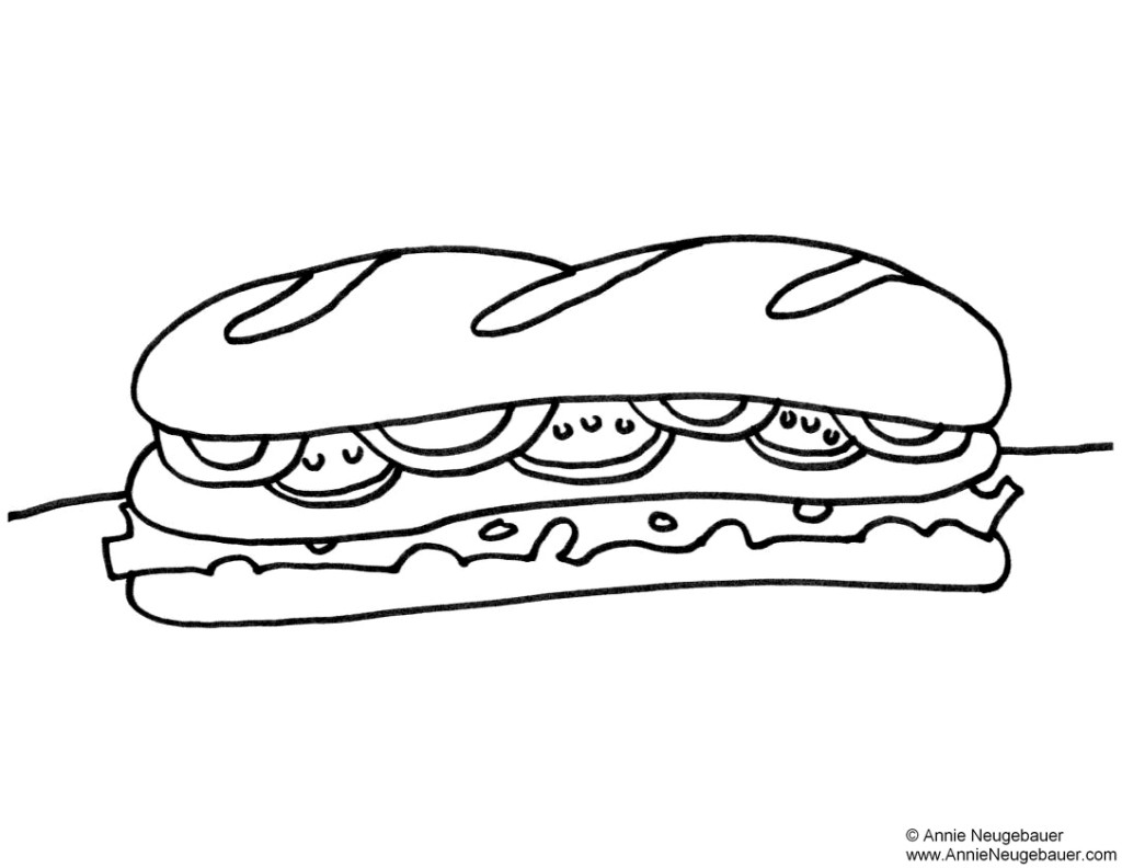 Submarine Sandwich Drawing Images & Pictures - Becuo